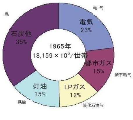 图2  2005年日本家庭能源结构