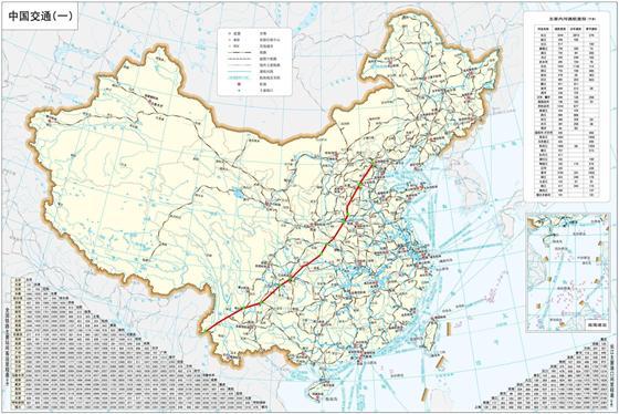 京洛渝昆战略铁路公路路线图