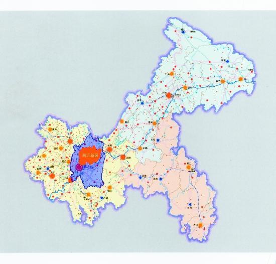 重庆两江新区 西部经济起飞的发动机高清图片