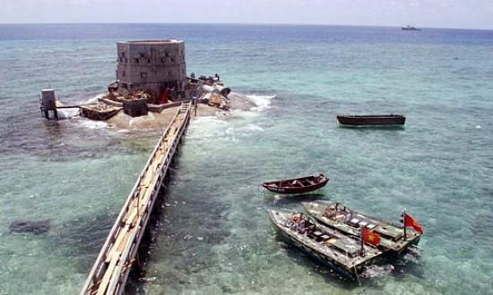 越南占领的南沙礁盘