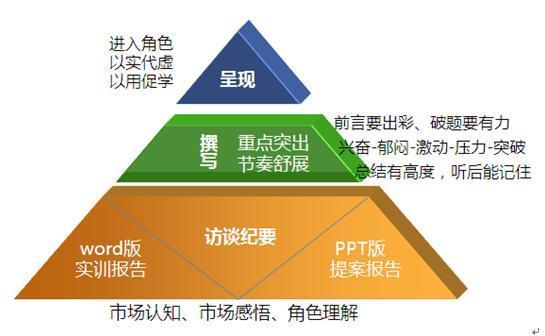 市场实训报告的金字塔结构图片