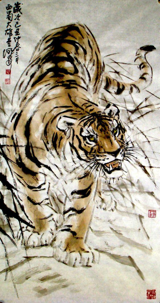 他们承继马骀,张善子,阎松父以来的四川动物画传统,在坚持中国风格