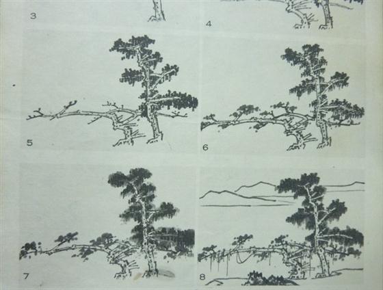 丛树在山水画中经常出现