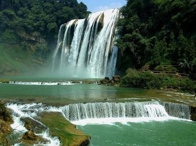 壁纸 风景 旅游 瀑布 山水 桌面 390_291