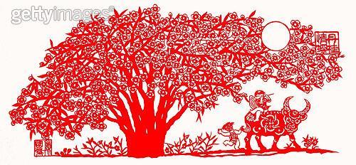 剪纸手工重建森林