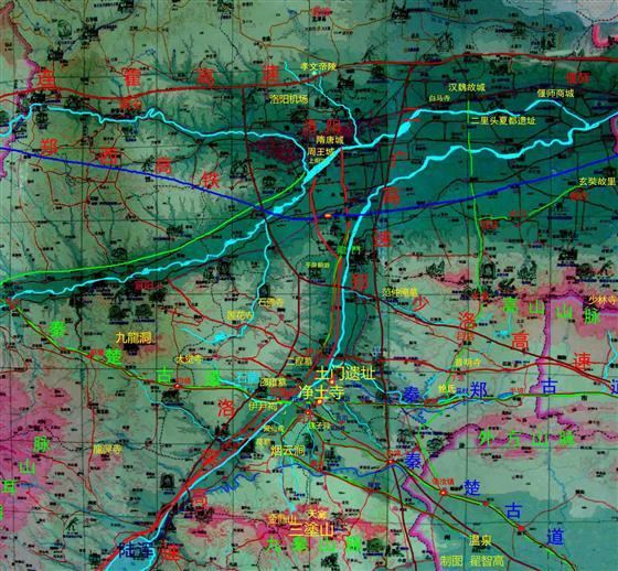 伊川县城街道地图