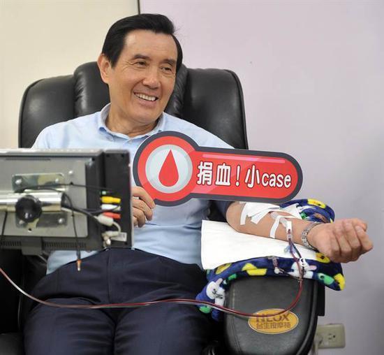 周蓬安:无偿献血,该学习马英九好