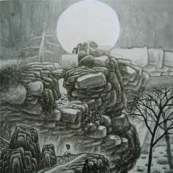 在他的人物画作品中,既有任伯年的率意线描,也有日本浮世绘画风及简练